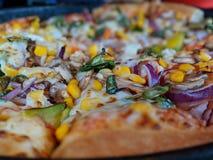Vegetarische Pizza stockbild