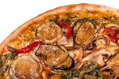 Vegetarische Pizzaclose-up Stock Foto's