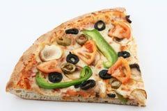 Vegetarische pizzaplak Stock Afbeelding