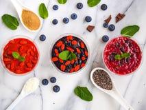 Vegetarische Puddings Stockfotos