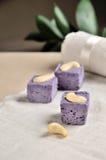 Vegetarische purpurrote Süßigkeiten lizenzfreies stockbild