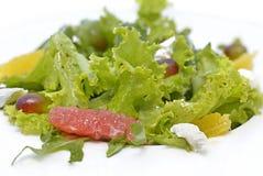 Vegetarische salade met fruit en sla Stock Foto