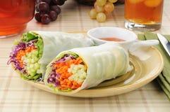 Vegetarische saladeomslagen Royalty-vrije Stock Foto's