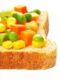 Vegetarische sandwich Royalty-vrije Stock Fotografie