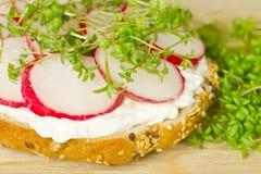 Vegetarische sandwich - detail Royalty-vrije Stock Fotografie
