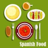 Vegetarische schotels van Spaanse keuken Stock Afbeeldingen