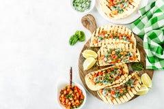 Vegetarische snack van taco's royalty-vrije stock afbeelding