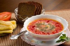 Vegetarische soep Royalty-vrije Stock Foto