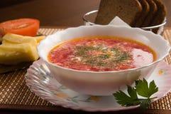 Vegetarische soep Stock Foto