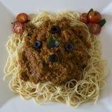 Vegetarische Spaghettis Bolognaise lizenzfreies stockbild