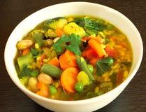 Vegetarische Suppe Stockbild