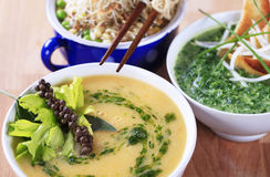 Vegetarische Suppen Lizenzfreie Stockbilder