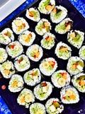 Vegetarische Sushi des strengen Vegetariers Lizenzfreies Stockbild