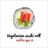 Vegetarische Sushirolle stock abbildung