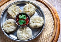 Vegetarische Tibetan momo Royalty-vrije Stock Foto's
