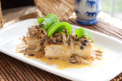 Vegetarische tofu schotel Chinese stijl Royalty-vrije Stock Foto