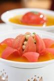 Vegetarische tomaat royalty-vrije stock afbeelding