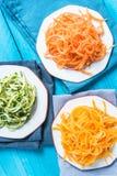 Vegetarische und gesunde Spaghettis Stockbild
