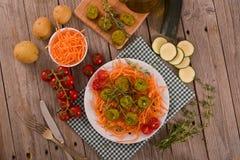 Vegetarische vleesballetjes stock foto