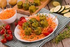 Vegetarische vleesballetjes royalty-vrije stock foto's