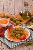 Vegetarische vleesballetjes stock afbeelding