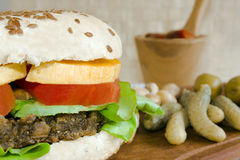 Vegetarischer Burger Stockbilder