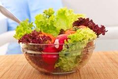 Vegetarischer frischer Salat Lizenzfreie Stockbilder