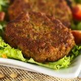 Vegetarischer Linsen-Burger Lizenzfreie Stockbilder