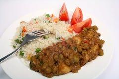 Vegetarischer muttar aloo Curry stockfoto