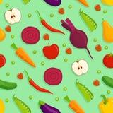 Vegetarischer nahtloser Hintergrund Stockbild