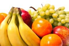 Vegetarischer Obst- und Gemüse Hintergrund der gesunden Ernährung Stockfotos