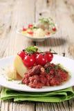 Vegetarischer Paprika und Kartoffeln lizenzfreies stockfoto