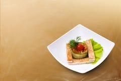 Vegetarischer Salat mit Croutons Lizenzfreie Stockfotos