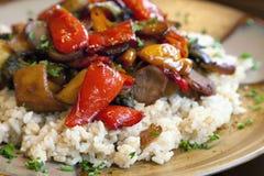 Vegetarisches Abendessen Stockbild