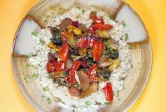 Vegetarisches Abendessen Stockfoto