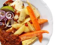 Vegetarisches Abendessen Lizenzfreies Stockbild