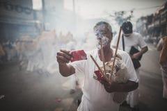 Vegetarisches Festival Phuket in Phuket-Provinz, Thailand Stockfotografie