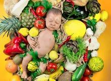 Vegetarisches Kind Stockfoto