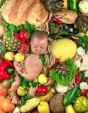Vegetarisches Kind Stockbild