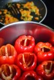 Vegetarisches Lebensmittel mit spanischem Pfeffer Lizenzfreies Stockbild