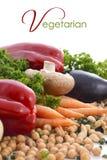 Vegetarisches Lebensmittelgemüse, -nüsse und -hülsenfrüchte Stockfotos