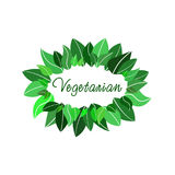 Vegetarisches Logo Lizenzfreies Stockbild