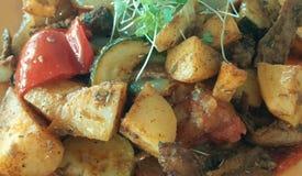 Vegetarisches Mittagessen Lizenzfreies Stockfoto