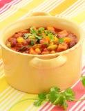 Vegetarisk chili Arkivbild