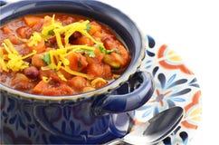 Vegetarisk chili Arkivfoto