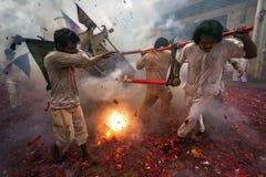 Vegetarisk festival i rytm var folkkullbärare på var Arkivfoto