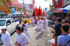 Vegetarisk festival i Thailand Arkivbilder