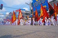 Vegetarisk festival i Thailand Arkivbild