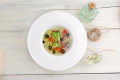 Vegetarisk grönsaksoppa Royaltyfri Bild