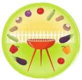 Vegetarisk grillfest Arkivbilder